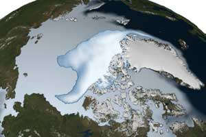 NASA Finds Thickest Parts of Arctic Ice Cap Melting Faster image