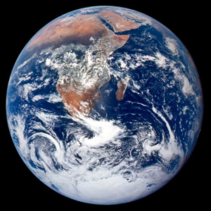 The Blue Marble from Apollo 17 image