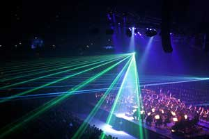 """image credit: Fir0002/Flagstaffotos;  <a href="""" http://en.wikipedia.org/wiki/File:Classical_spectacular_laser_effects.jpg"""" target=""""_blank"""">image source</a>; <a href=""""http://www.compadre.org/informal/images/features/laser effects concert large.jpg"""" target=""""_blank"""">larger image</a>"""